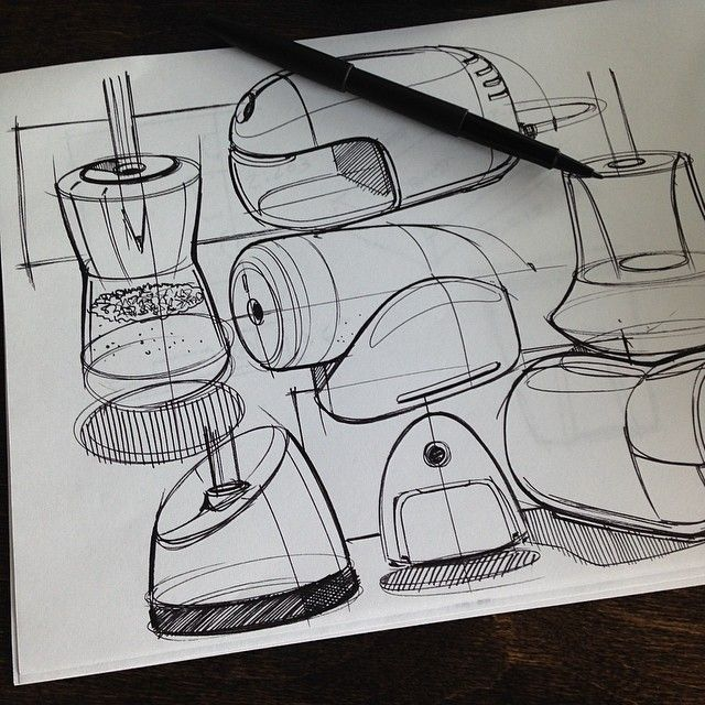 Sketches we like / Pencil Sketch / linedrawing / Simple Form explanation / at