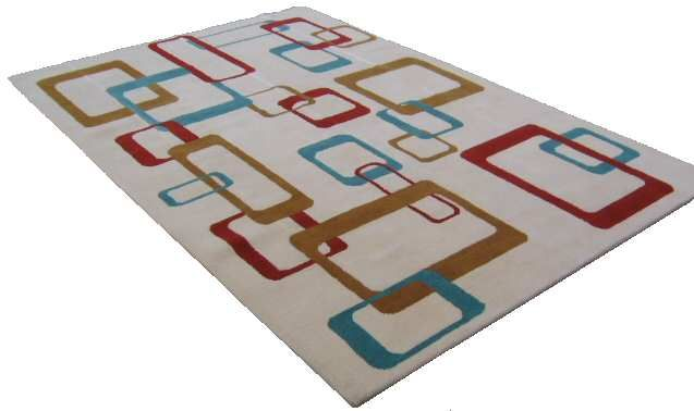 Mid century modern rug 6 39 x9 39 for sale click on image for - Mid century modern rug ideas ...