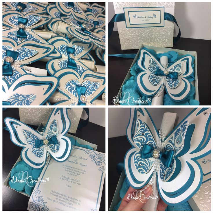 For butterflies lovers Butterfly Invitations DianaRcreations handmade
