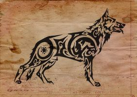 German Shepherd Tattoo Put Otto's name !! WANT THIS !!!