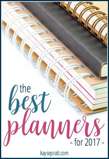 The Best Planners for 2017 - KaysePratt.com