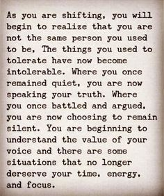 Read this again. This is good. This is you. You don't have to say EVERYTHING you THINK. She doesn't HAVE TO HEAR what you want to say. Be quiet. This is about you. Make this. You're doing better. Silence is OK, Johnny. SILENCE IS OK.