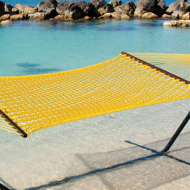 Sunny Yellow Soft Rope Hammock