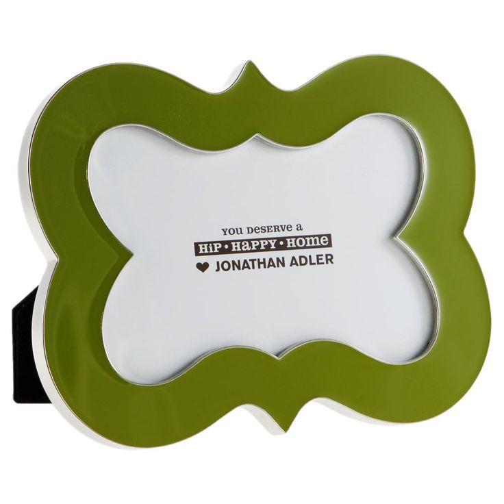 "Discover the Jonathan Adler Green Enamel Brackets Frame - 4x6"" at Amara"