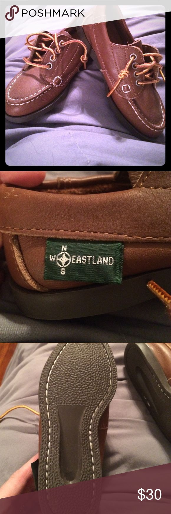 EASTLAND CHILDS 10.5  unisex Never worn outside. Tried on and never worn. Perfect sole, footbed and laces. I tied them old school just like we wore them in the 80's. These are CLASSIC EASTLAND  shoes. Quality and lifetime guarantee! Eastland Shoes