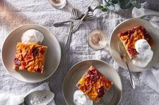 Orange umgedrehter Blatt-Kuchen   – Healthy Banana Bread