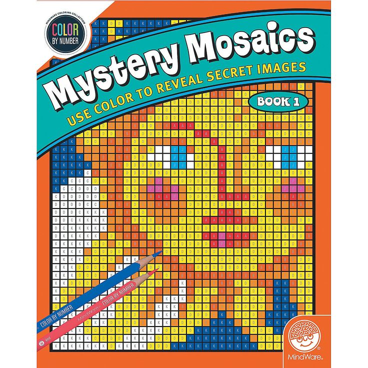 Color By Number Mystery Mosaics: Book 1 - Mindware.com