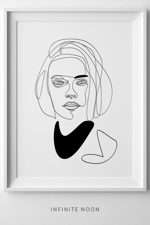 Minimalist Line Doodle Fashion Illustration Wall Art Simple One Line Drawing That Will Look Great In Any Modern Fashion Illustration Face Face Sketch Sketches
