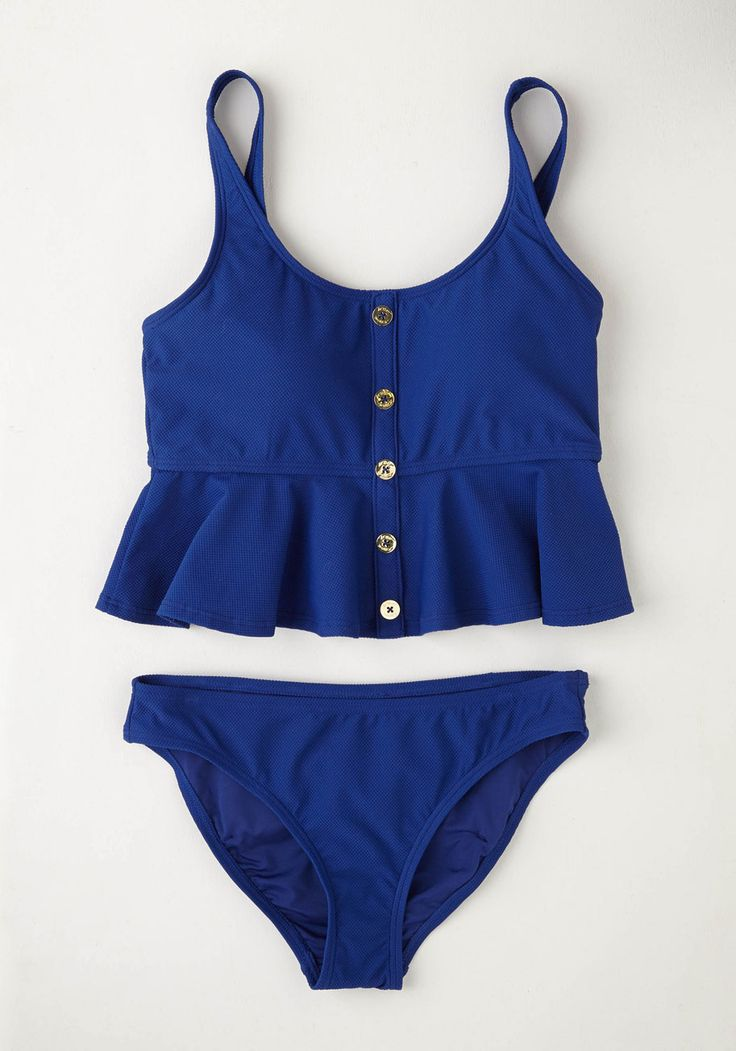 Less Talk More Yachts Swimsuit Bottom. No time for chit chat - youve got a boat to catch in this sapphire-blue swimwear from Betsey Johnson! #blue #modcloth