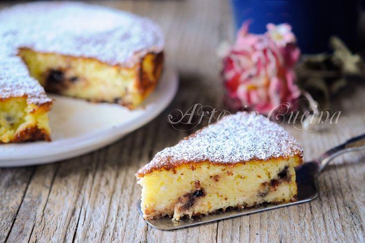 Torta+ricotta+e+gocce+di+cioccolato+con+farina+di+riso