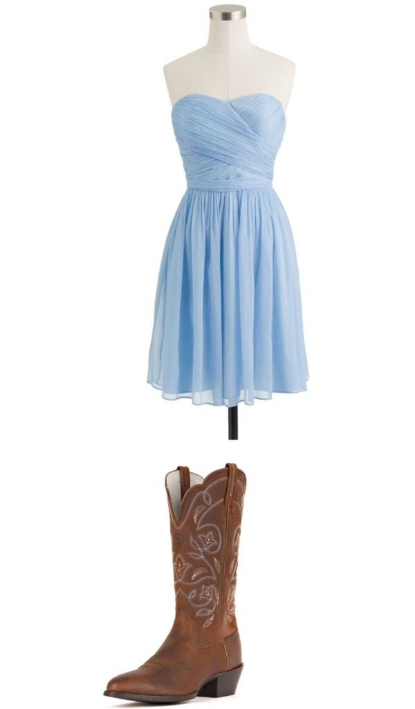 Country Bridesmaid Cowboy Boots With Bridesmaid Dresses Weddings At Repinned Net,Corset Halter Top Wedding Dress