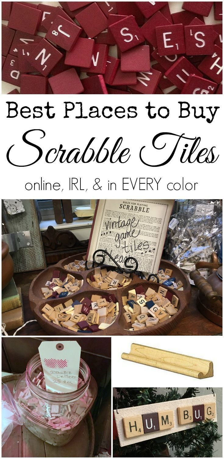 Where to buy Scrabble tiles, online, in real life, and in every color | http://DuctTapeAndDenim.com