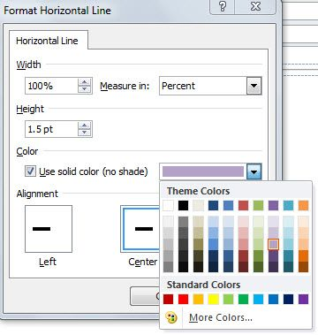How to Add a Colored Horizontal Line to Outlook Signature