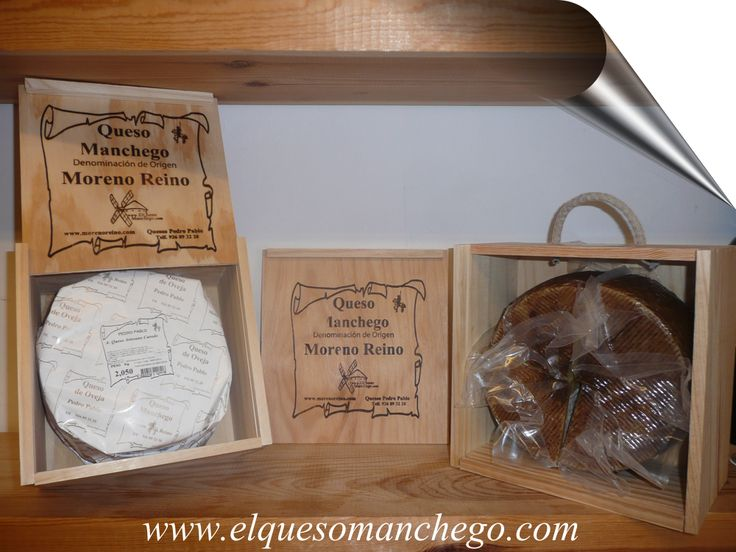 Todos nuestros #quesosmanchegos y #quesos de oveja en QUESERAS DE MADERA para su mejor conservación.