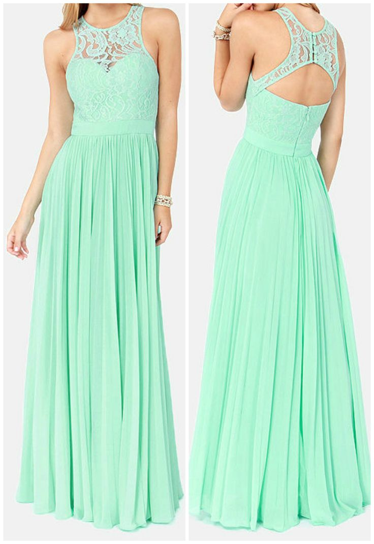 Mint Green Lace Maxi Dress