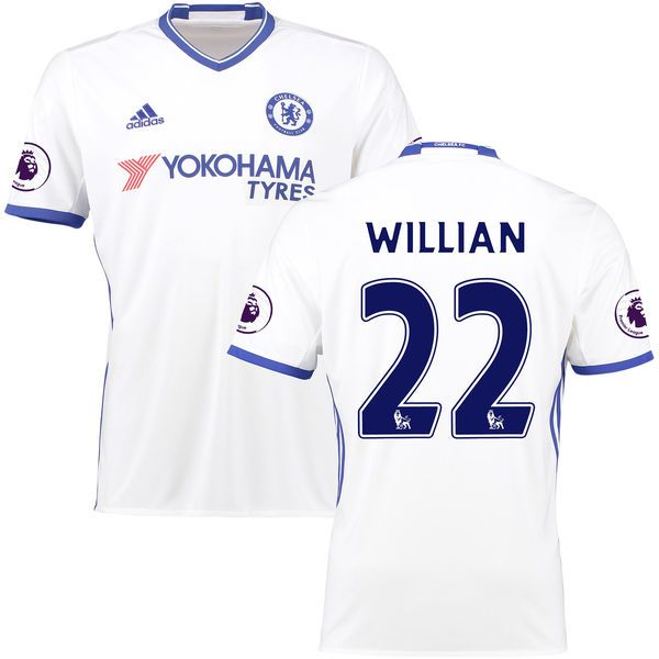 Willian Borges da Silva Chelsea adidas 2016/2017 Third Replica Player Jersey - White - $114.99