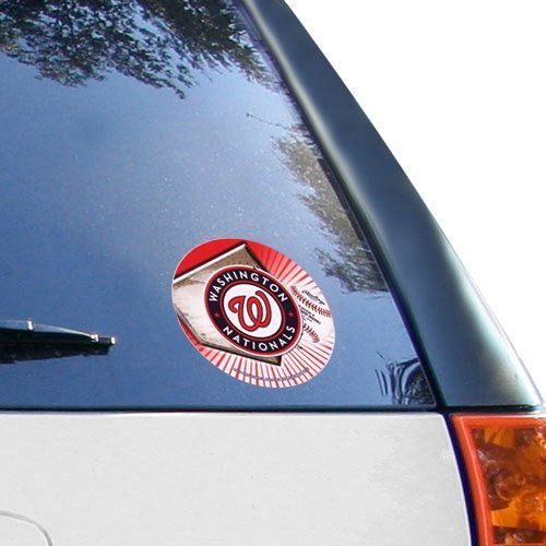 MLB Washington Nationals 4.5'' Round Window Decal  //Price: $ & FREE Shipping //     #sports #sport #active #fit #football #soccer #basketball #ball #gametime   #fun #game #games #crowd #fans #play #playing #player #field #green #grass #score   #goal #action #kick #throw #pass #win #winning