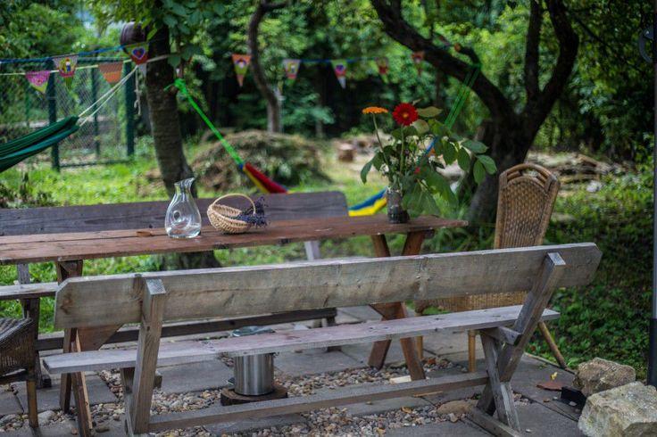 Relaxing spot in the garden.