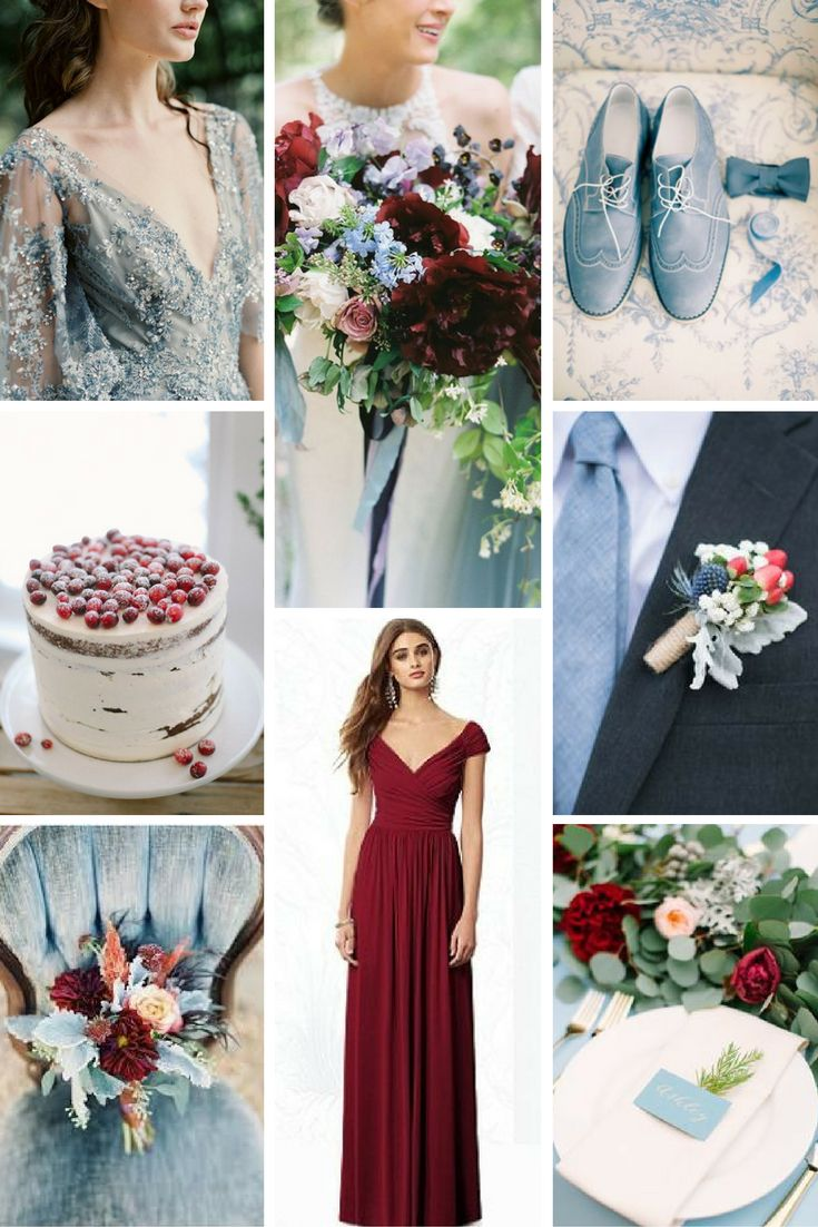 Cranberry & Dusty Blue Wedding Inspiration from Burgh Brides