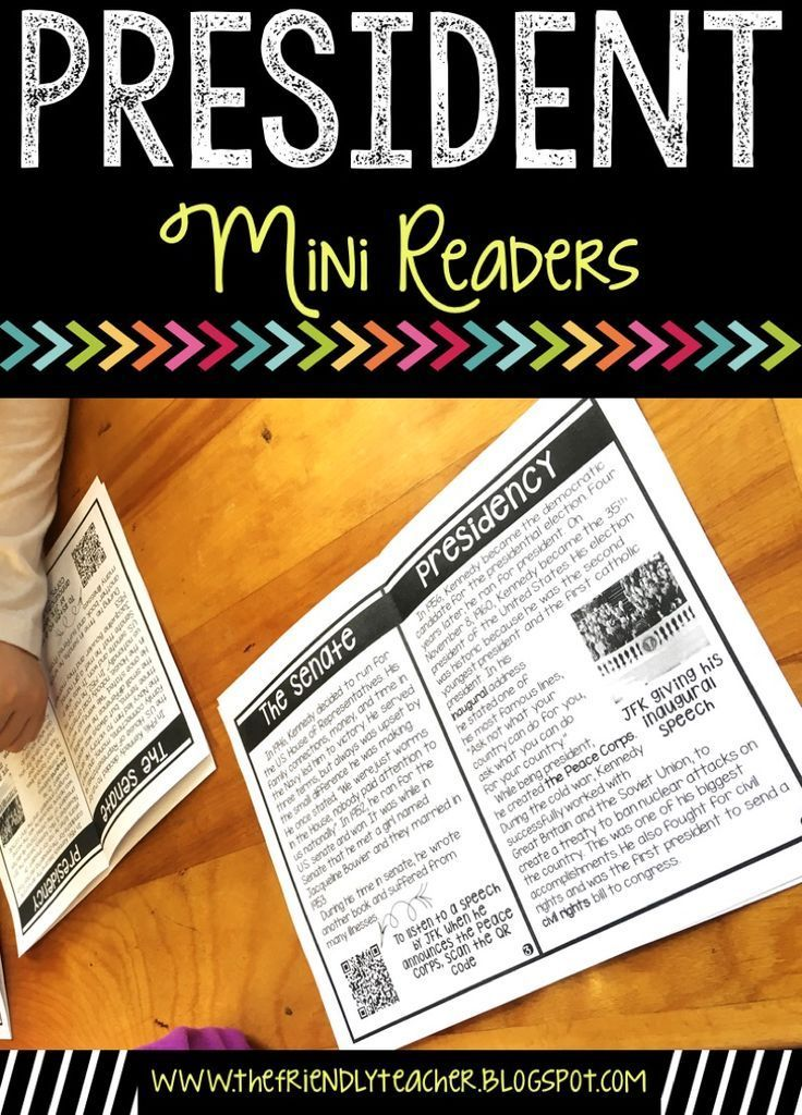 Teaching on Presidents Day is more fun using these mini readers. Teach your students about a new president with these books that have tons of information and QR codes for students to learn more! Plus, you can test their comprehension using the comprehension questions!