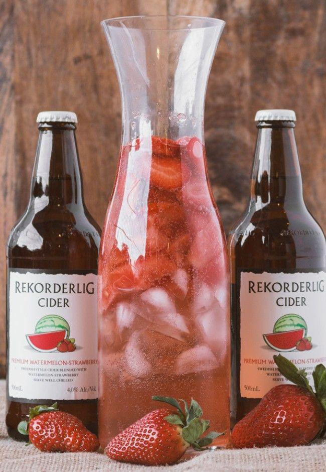 Rekorderlig Watermelon-Strawberry Cocktail | Good Magazine |