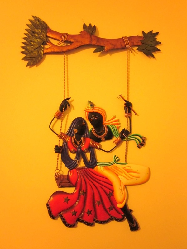 the lovely Krishna and Radha..Isn't that a beauty?