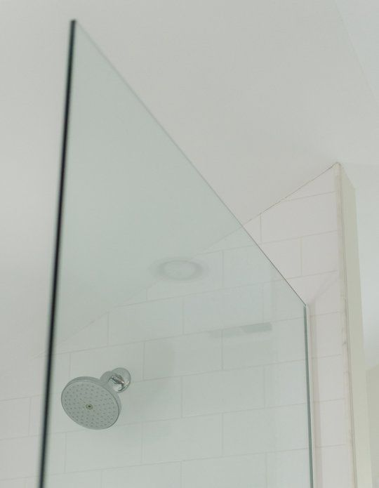 Faith U0026 Mikeu0027s Master Bathroom: The Glass Shower Panel U0026 Other Details U2014  Renovation Diary Part 69
