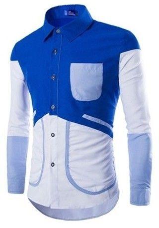 Camisa Fashion Juvenil en Diferentes Colores - Diseño Exclusivo - Azul — CamisasMasculinas.com - Lo Mejor de la Moda Masculina