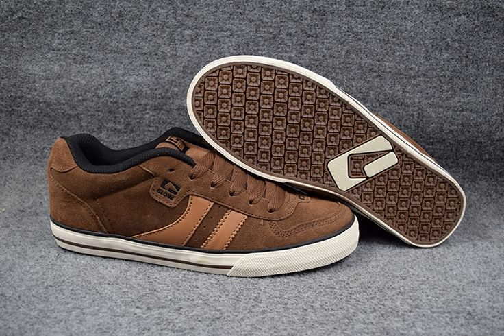 60.00$  Buy here - http://aig8l.worlditems.win/all/product.php?id=32668313474 - 2016  US 5-12 Boys GLOBE ENCORE-2 Board Shoes Brown mixed Anti-Fur Street Sports Shoes Size6.5-12 Available