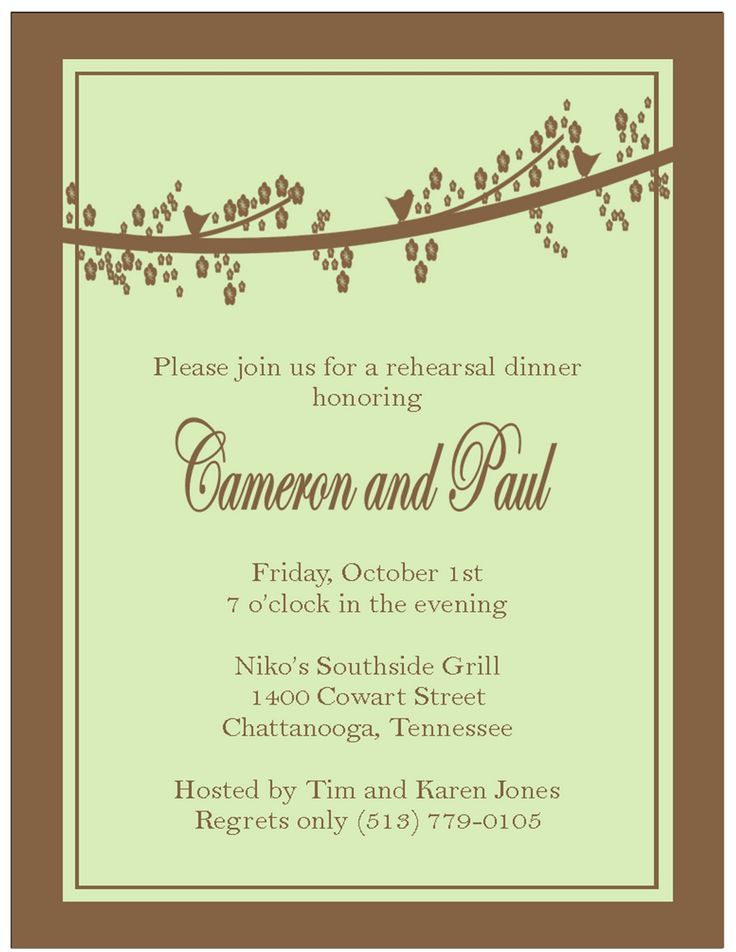 9 best southern invitations images on Pinterest Free stencils - dinner invitation sample