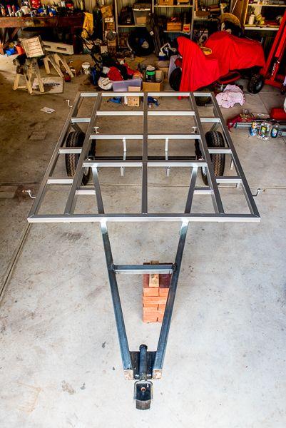 DIY Camper Trailer Rebuild - Steel Chassis -fabrication - trailer building