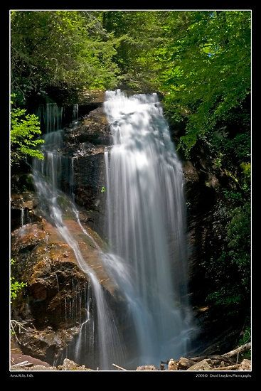 Anna Ruby Falls at Unicoi State Park - Georgia.  Come along and explore the beauty of the North East Georgia Mountains with its many waterfalls.  www.GHToursInc.com