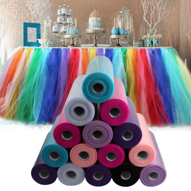 100 Yards Tulle Rolls DIY Decorative Crafts Multicolor Tulle RollS Spool for Wedding Decoration Event Party Supplies Wholesale