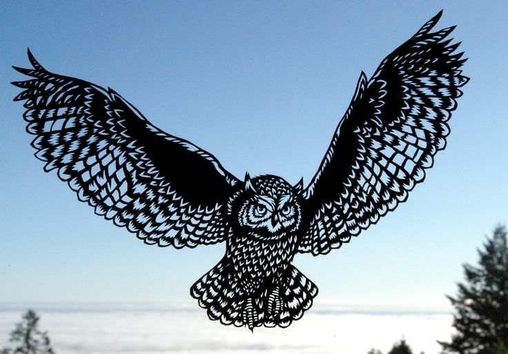 Scherenschnitte << owl paper jacqueline hawk inspiration