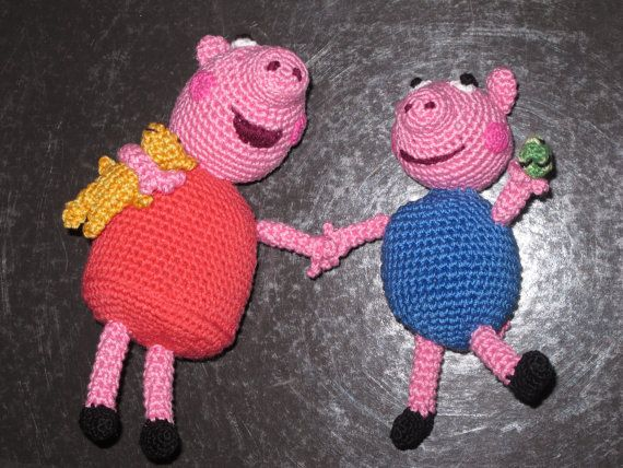Peppa pig and George by giovannacargnelli on Etsy, €30.00