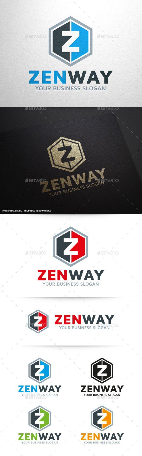 GraphicRiver Zen Way Letter Z Logo 10361111