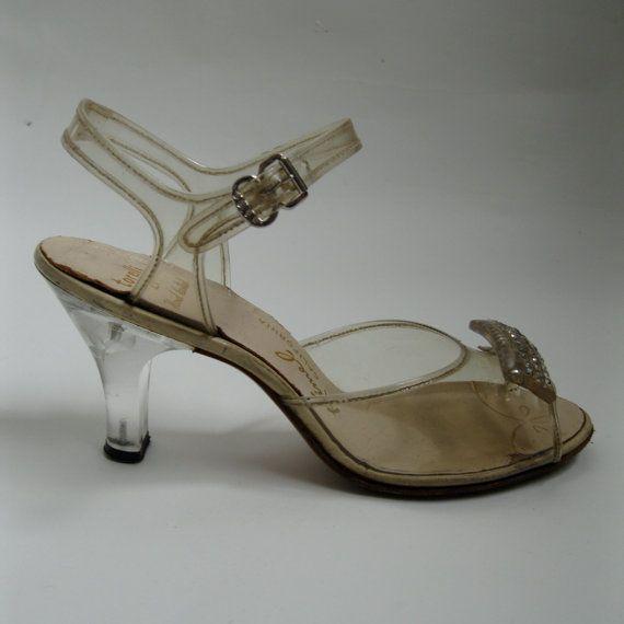Vintage 1950s Lucite Shoes