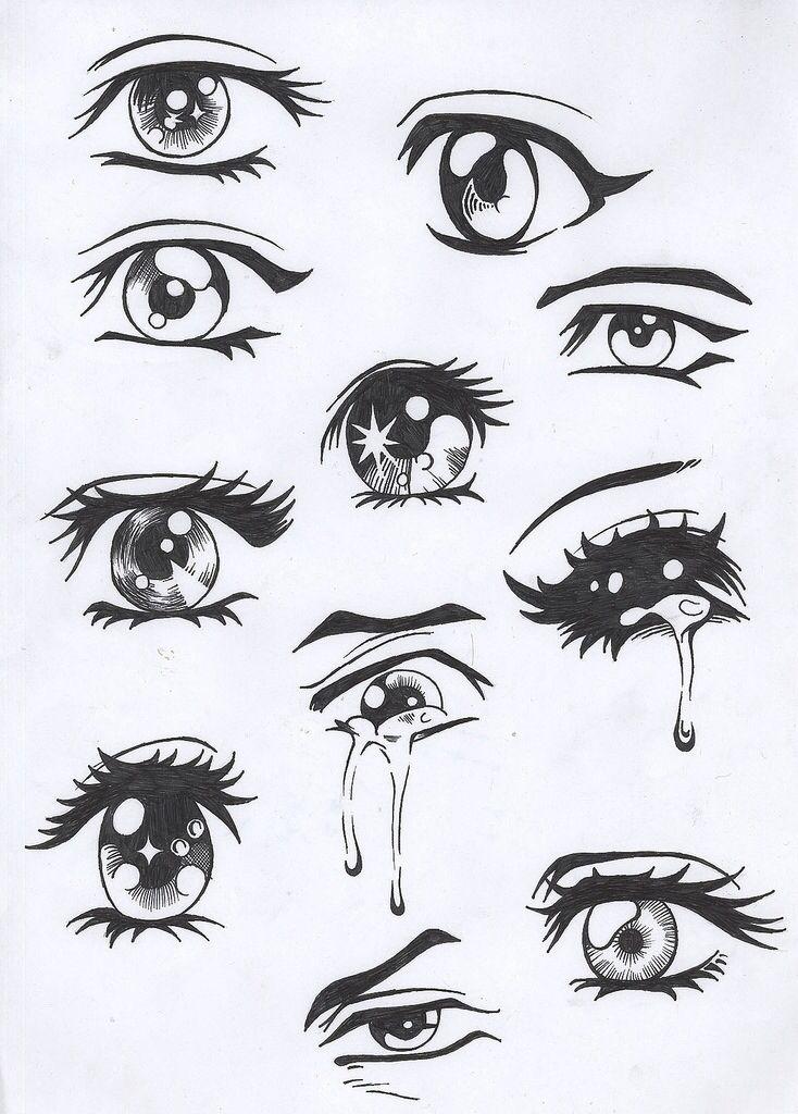Line Drawing Eye : Comic eye drawings tutorial alyssa pinterest