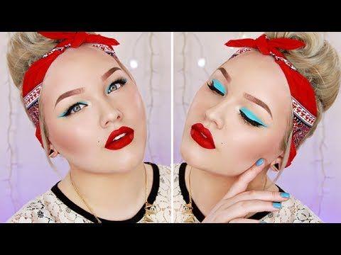 Makeup Tutorial: Colorful Pin Up