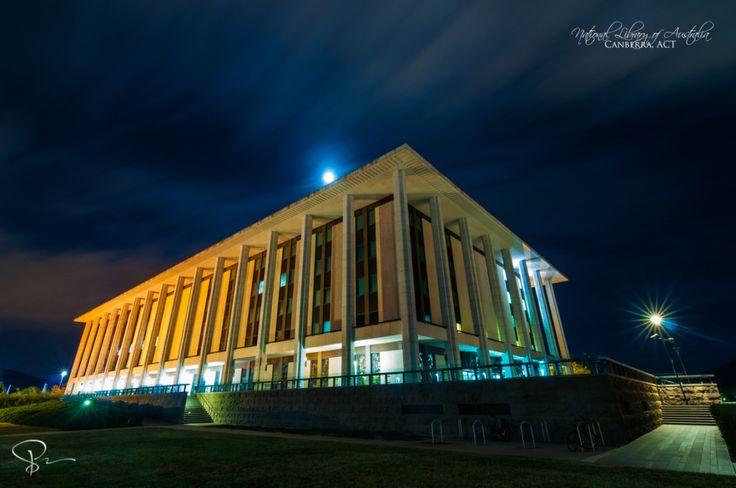 National Library of Australia  This is the National Library of Australia, located in Canberra. I have always wanted to capture this magnificent building and the architecture truly stands out. For better quality or to get this in print here: http://sactyr.com/wp/national-library-of-australia/