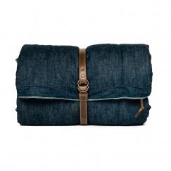 Selvage denim and japanese chambray sleeping bag.