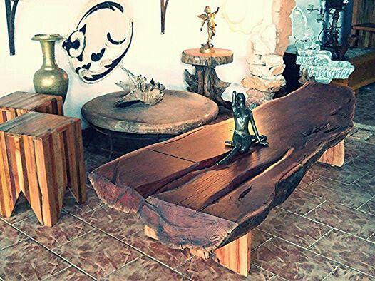 Coffee wood table