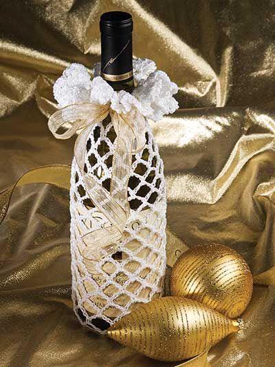 Crochet - Holiday & Seasonal Patterns - Christmas Patterns - Wine Bottle Cover