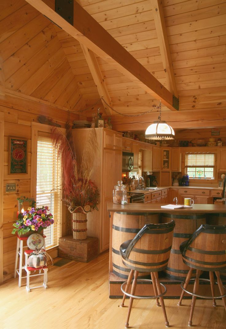 Kitchen_356 On Log Homes, Timber Frame And Log Cabins By Honest Abe Http:/. Log  Home DesignsKitchen ...