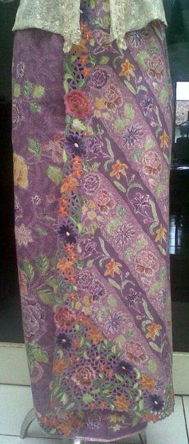 Batik embroidery