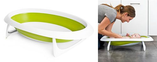 Boon Naked Collapsible Baby Bathtub - Lime - UrbanBaby
