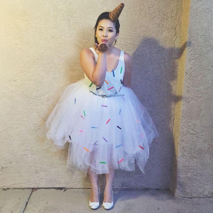 DIY melted or dropped Ice cream cone costume! Halloween2015 HalloweenCostume