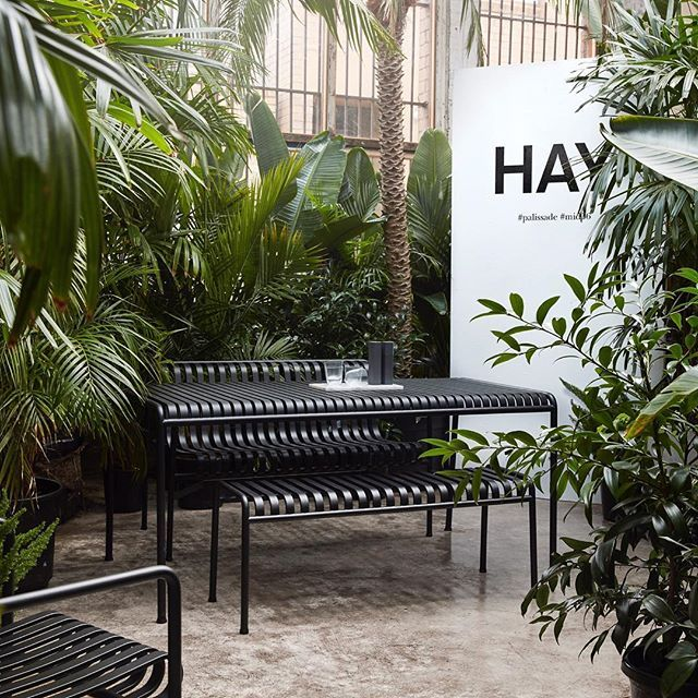 The Pallisade Collection by the Bouroullec Brothers for Hay in a stunning exhibition by @cultdesignau at @indesigntheevent in Melbourne this weekend.  @seanfennessy #outdoor #furniture #saturdays #hay