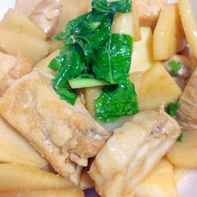 蕪丸ごと使っちゃいましたー(*^_^*) - 4件のもぐもぐ - 鶏肉と蕪の中華炒め by vivi