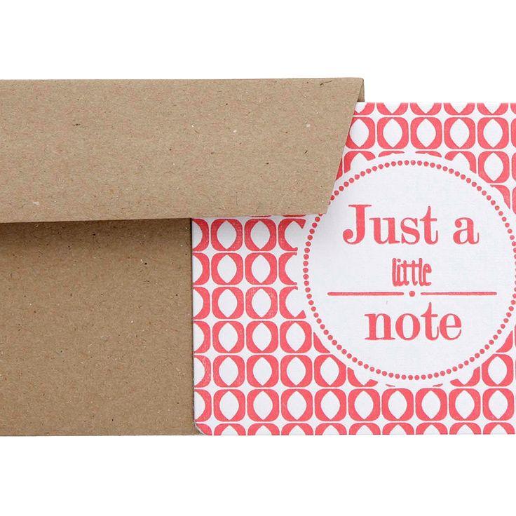 Kaart Just a little note     Sissy-Boy Online store